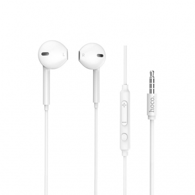 Hoco M55 Hands Free Earphones Stereo 3.5 mm Λευκά