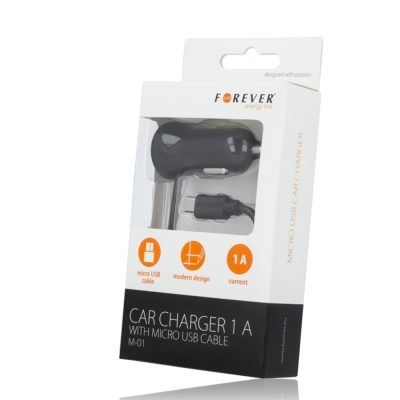 ForeverCar charger MICRO USB 1A 2,5m M-01