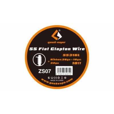 Geekvape Flat Clapton SS316L Ribbon 26ga*18ga+32ga 10ft