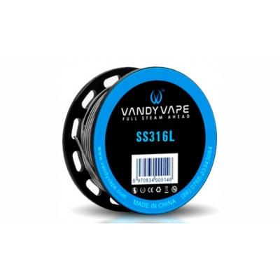 Vandy Vape SS316L SS Stagger Fused Clapton (26ga+32ga)*2+32ga 10ft