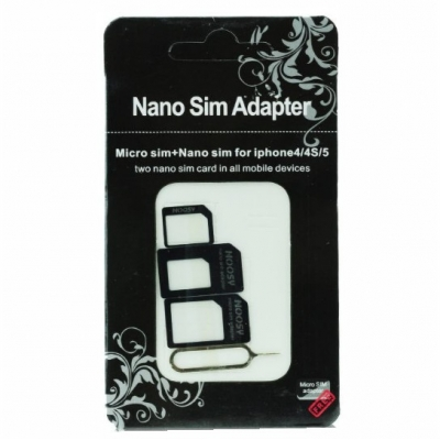 Adapters Nano SIM/Micro, Micro Sim and Nano/Sim (NOOSY 3in1)