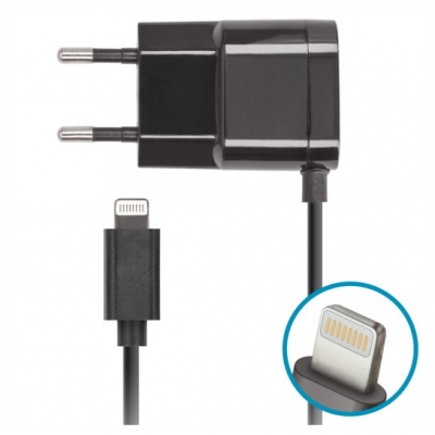 Forever iPhone 5/6 wall charger 1A Black