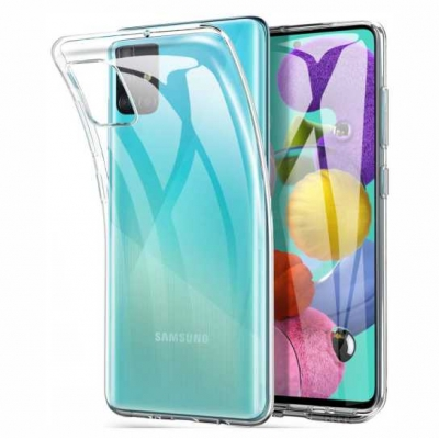 Slim case TPU 1mm for Samsung Galaxy A71 Διάφανο