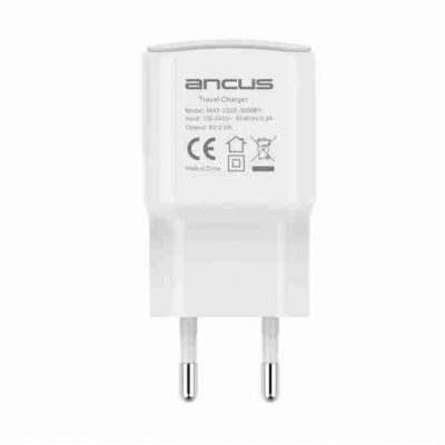 Ancus USB Wall Adapter 2A Λευκό (Supreme Series)