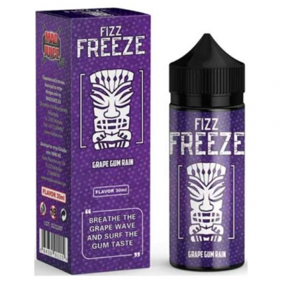 Mad Juice Fizz Freeze Grape Gum Rain 120ml Flavorshots
