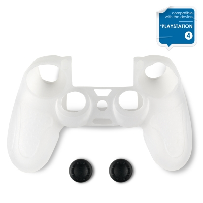 Spartan Gear Silicone Skin Cover with Thumb Grips PS4 Transparent