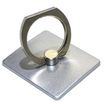 Βάση Στήριξης Γραφείου 360° Rotating Ring για Κινητά Τηλέφωνα Ασημί 3.5 x 4 cm