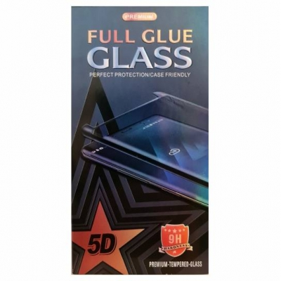 Full Glue Tempered Glass 5D for Samsung Galaxy A21s black frame