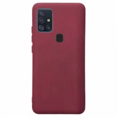 Matt TPU case for Samsung Galaxy A21s burgundy