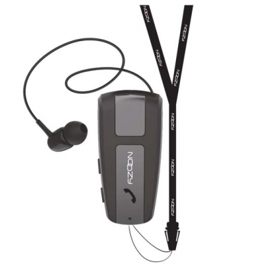 Noozy Bluetooth Hands Free Roller με Δόνηση και Strap Λαιμού Μαύρο