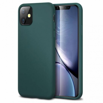 Silicon case for iPhone 11 Pro forest green