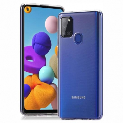 Slim case TPU 1mm for Samsung Galaxy A21s Διάφανο