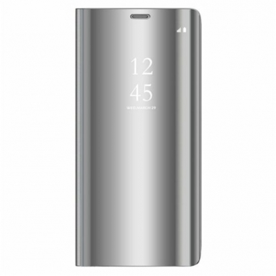 Smart Clear View Case for Huawei P Smart 2021 silver