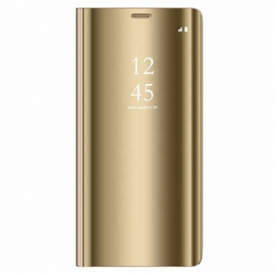 Smart Clear View Case for Samsung Galaxy A21s Gold