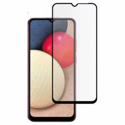 Full Glue Tempered Glass 5D for Samsung Galaxy A02s / M02s black frame