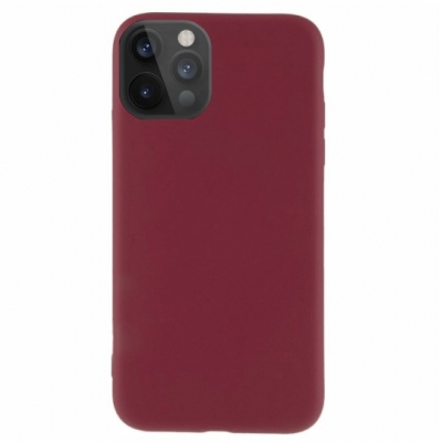 Silicon case for  iPhone 12 Pro Max burgundy