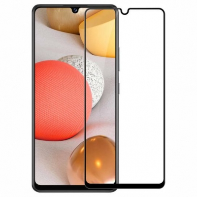 ObaStyle Tempered Glass 3D for Samsung Galaxy A42 5G black frame
