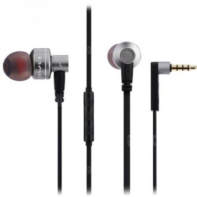 Awei ES10TY In-ear Handsfree με Βύσμα 3.5mm Ασημί