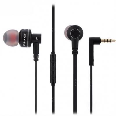 Awei ES10TY In-ear Handsfree με Βύσμα 3.5mm Μαύρο