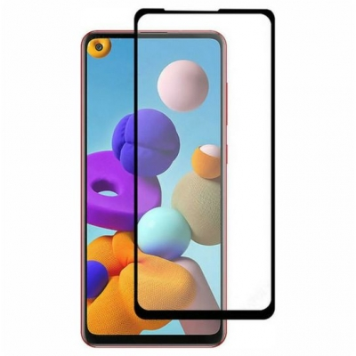 ObaStyle Tempered Glass 3D for Samsung Galaxy A21S Black frame