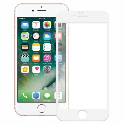 ObaStyle Tempered Glass 3D for iPhone 6 / 6S White frame