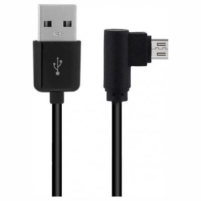 Powertech Angle (90°) USB 2.0 to micro USB Cable Μαύρο 2m (CAB-U125)